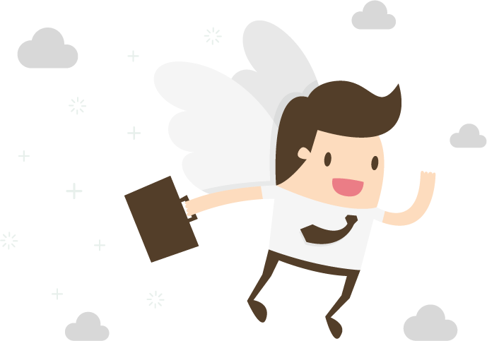 Webdesign Engel mit Aktentasche
