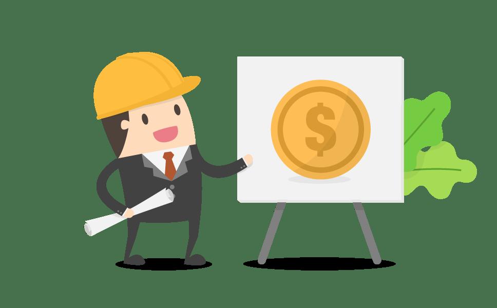 Webdesign Bauarbeiter Whiteboard